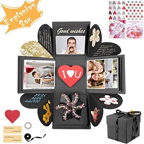 CLKJCAR Caja de Regalo - DIY Álbum de Fotos Hecho a Mano,Creative Explosion Box San Valentin Navidad Regalos Regalo de Cumpleaños
