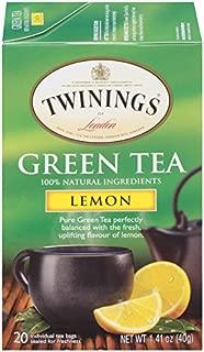 Twinings of London Lemon Green Tea Bags, 20 Count (Pack of 6)