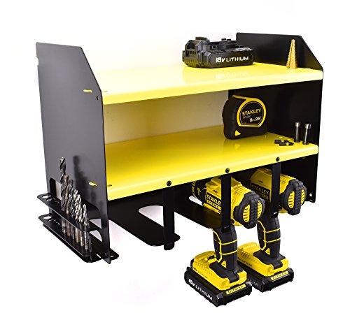 Dewalt Drill Driver Battery Tool Rack Shelving Storage Holder Workshop Organiser