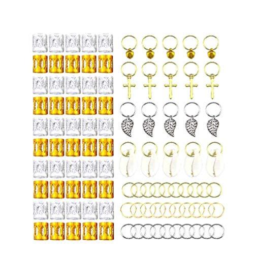 SUPVOX 100pcs bijoux de cheveux anneaux en aluminium dreadlocks cheveux tresses perles anneaux de cheveux clips pour accessoire de cheveux