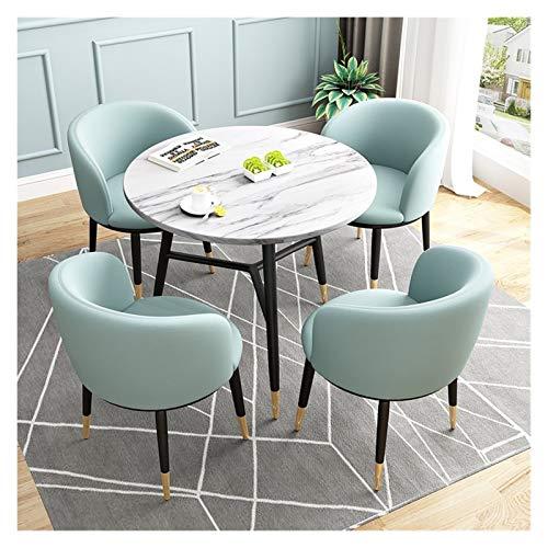 WANGQW Conjunto de Mesa de Comedor para Cocina o decoración del Hotel, Muebles de Comedor Mesa y una Silla de combinación Habitación Sala Tumbona Moderna Minimalista Mesa de Comedor (Color : Blue)