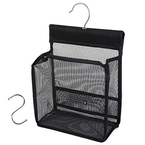 FishMM Hanging Mesh Shower Caddy College with Hooks, Bath Baskets Organizer Storage for College Dorm Rooms, Gym, Swimming and Travel