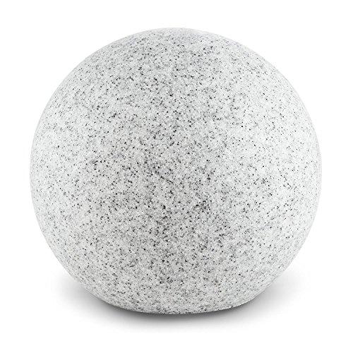 Lightcraft - Shinestone XL, Gartenleuchte, Außenleuchte, Kugelleuchte aussen, für Garten und Außenanlagen, 50 cm Durchmesser, 40 Watt max, granit