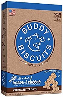 Cloud Star Itty Bitty Buddy Biscuits Dog Treats, 8oz Box, Bacon & Cheese (Packaging may vary)