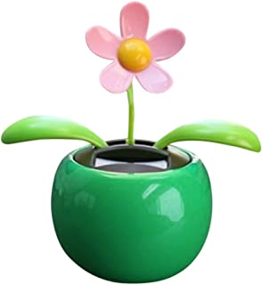 Iuhan Flower Solar Powered Dancing Swinging Animated Dancer Toy Car Decoration New (green)