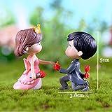 2 Unids/Set Mini Amantes Muñecas Figuras Micro Paisaje Hada Jardín Gnomos Estatuilla Adornos Decoración Miniatura DIY, Tipo 13 Rosa