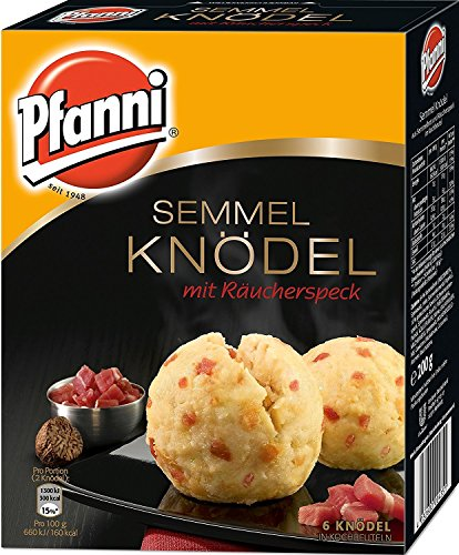 Pfanni Semmel Knödel mit Räucherspeck in Kochbeuteln