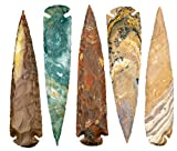 KVK Crystals One 7' Indian Spear Point Arrowhead Agate Chert Flint New Project Point