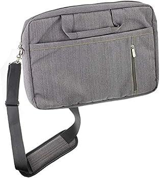 Navitech Grey Premium Messenger Bag - Compatible with The Sylvania SDVD9805 9-Inch
