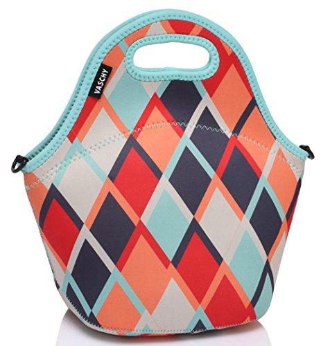 VASCHY Lunch Tasche Isoliertasche Kühltasche Lunchtasche Thermische Lunch Tasche Mittagessen Tasche für Damen, Mädchen, Kinder (Diamant)