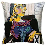 ZHUHOO Portrait of Dora Maar-Pablo Picasso Bedroom Couch Sofa Square Pillow Case Home Decorative Throw Pillow Covers 18x18 Inch