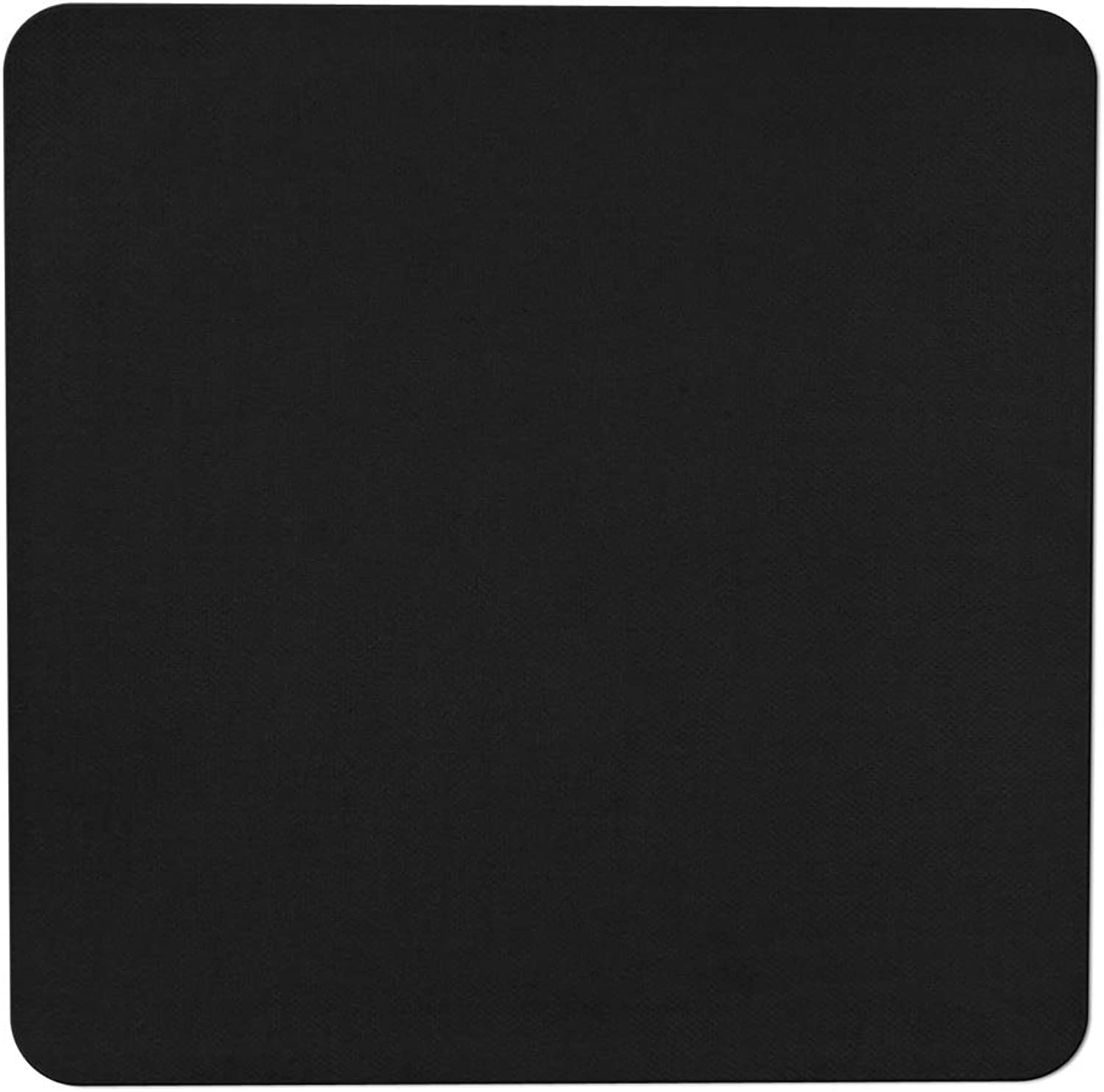 House, Home and More Skid-resistant Carpet Indoor Area Rug Floor Mat - Black - 3' X 3' - Many Other Sizes to Choose From