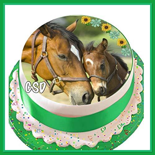 CSD Tortenaufleger Pferde 03, Zuckerpapier, Tortenbild, Geburtstag
