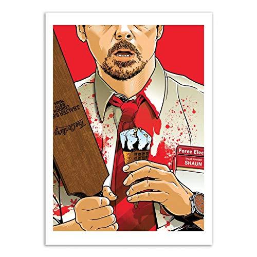 WALL EDITIONS Art-Poster - Shaun of The Dead - Joshua Budich - Format : 50 x 70 cm