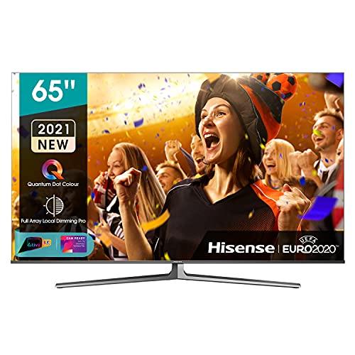 Hisense 65' ULED 4K 2021 65U88GQ, Quantum Dot IPS, Smart TV VIDAA 5.0, HDR Dolby Vision IQ, Audio 2.1.2 60W Dolby Atmos, Controlli vocali Alexa / Google Assistant, Tuner DVB-T2/S2 HEVC 10, lativù 4K