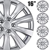 BDK (4-Pack Premium 16' Wheel Rim Cover Hubcaps OEM Style for Toyota Camry Style Replacement Snap On Car Truck SUV Hub Cap - 16 Inch Set