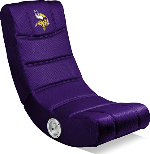 Imperial Officially Licensed NFL Furniture: Ergonomic Video Rocker Gaming Chair with Bluetooth, Minnesota Vikings