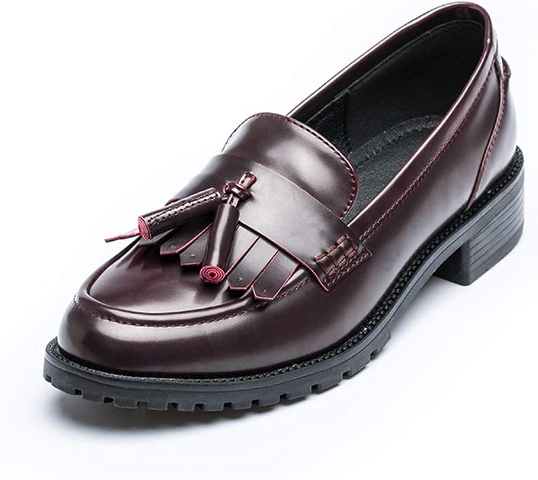 kvinnor läder Loafers Tassels Oxford Slip -on -on -on Mode Penny Driving Flats  prisvärd