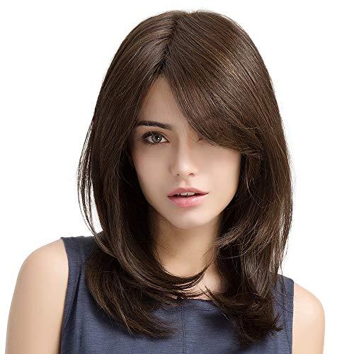conseguir pelucas mujer pelo humano marron online