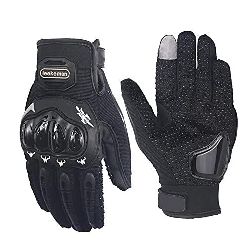 Karcore Motorrad Handschuhe für Herren Damen (Grau, L)