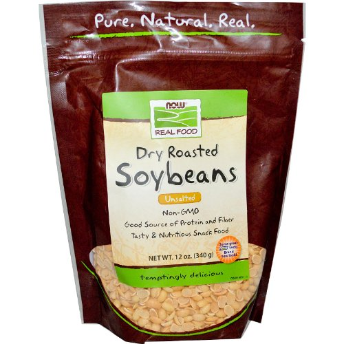 NOW Foods Real FoodDry Roasted Soybeans Unsalted -- 12 oz