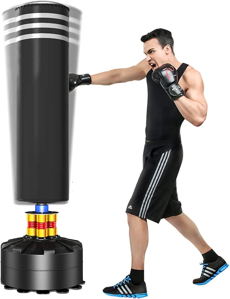 Dprodo Freestanding Punching Bag 69''-182lbs Max New York Mall 82% OFF Heavy w Boxing