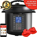 Mealthy MultiPot 9-in-1 Programmable Electric Pressure Cooker with Stainless Steel Pot, Steamer Basket and Instant Access to Mealthy Recipe App. Pressure Cook, Slow Cook, Saute & More