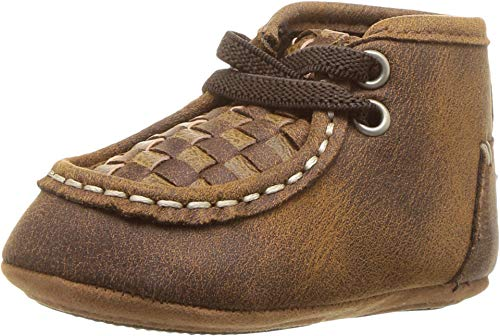 M&F Western Carson Boy's Infant/Toddler Baby Bucker Casual Shoes First Walker, Brown, 1
