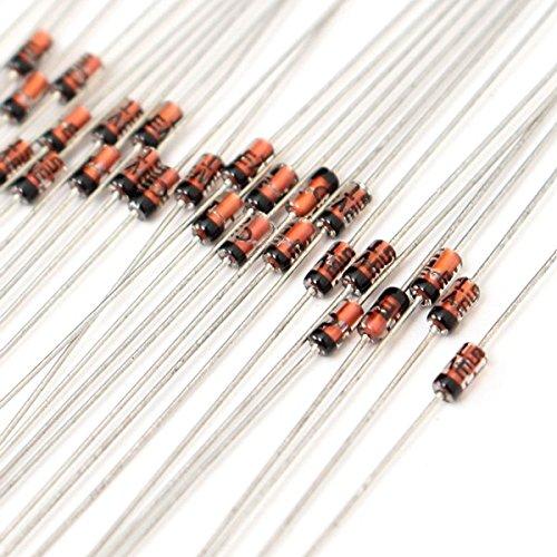 RoXane 1020Pcs 2V ~ 47V 0.5W 1 / 2W Zener Diode 34 Assortiment Kit De Valeurs