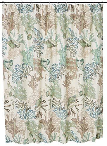 Barefoot Bungalow Atlantis Shower Curtain, 72x72-inch, Jade
