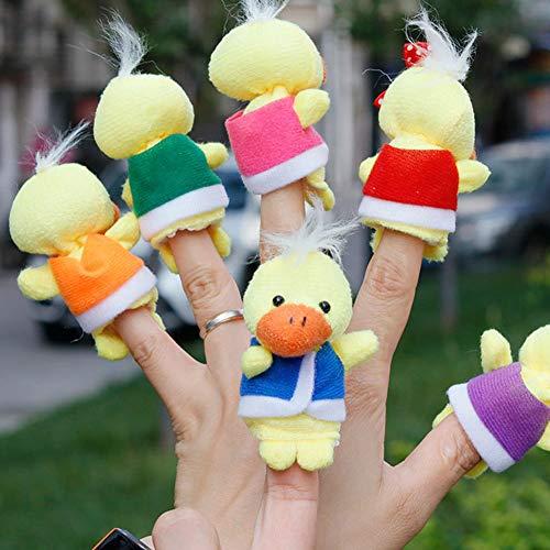 ACHICOO 6 Teile/Satz Niedlichen Cartoon Plüsch Ente Fingerpuppen Storytelling Spielzeug Requisiten
