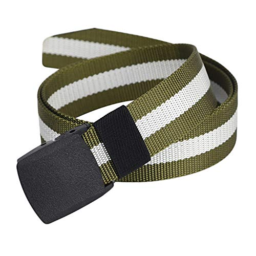 Nylon Canvas Belts Plastic Buckle Belt Tactical Belts Travel Adjustable Nylon Web Slide Belt (Army green)