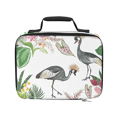 African Crowned Crane und Red Heads Crane Isolierte Lunchbeutel Isolierter auslaufsicherer Strandkühler 9,51 × 3,15 × 7,48 Zoll Lebensmitteleinkauf Einkaufstasche für die Arbeit Picknick-Wanderstran