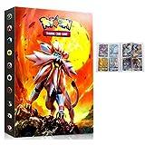 Dorara Carpeta de álbumes para Tarjetas Pokemon GX EX Mega Conjuntos de Cartas coleccionables Álbumes de Cartas coleccionables (Sol y Luna)