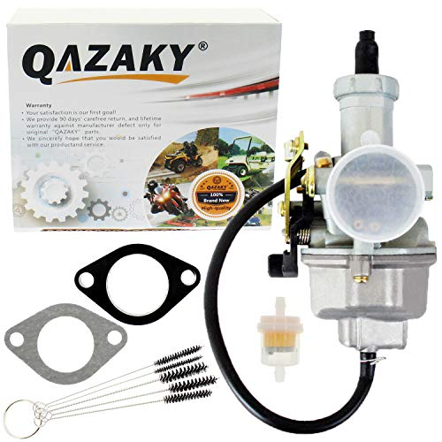 QAZAKY Pz27 Carburetor Carb Cable Choke 27mm for 4-stroke CG 125cc 150cc 200cc 250cc ATV Go Kart Dirt Bike Taotao Sunl Buyang Coolsport Lifan Kazuma Zongshen Chinese