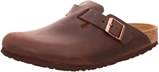 Birkenstock Boston Oiled Leather Habana Brown Sandals
