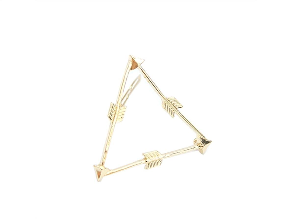 一掃する締めるごめんなさいOsize 美しいスタイル 弓と矢トライアングルヘアクリップサイドクリップヘアピンヘアアクセサリー(図示)