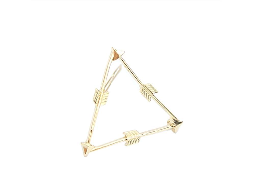 通知する農民核Osize 美しいスタイル 弓と矢トライアングルヘアクリップサイドクリップヘアピンヘアアクセサリー(図示)