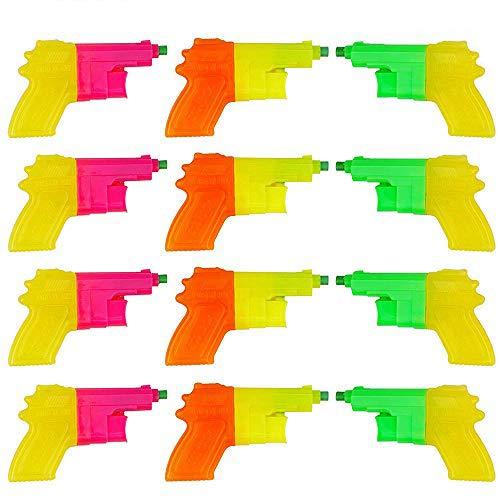 BRAMBLE! Set di 12 Mini Pistole ad Acqua per Bambini - Colori Assortiti - Pistola Giocattolo Gioco Acquatico Regali Compleanni per Bambini Festa in Piscina.
