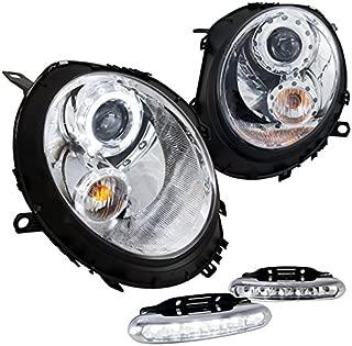 Spec-D Tuning L12-2LHPMINI06TM Fog Headlight (Mini Cooper Chrome Halo Projector LED Strip Lamp)