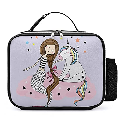 Bolsa Térmica Infantil Unicornio Sirena Chica Bolsas De Almuerzo Isotermica Organizador Del Almuerzo Para Niñas Niños 21x27x9cm