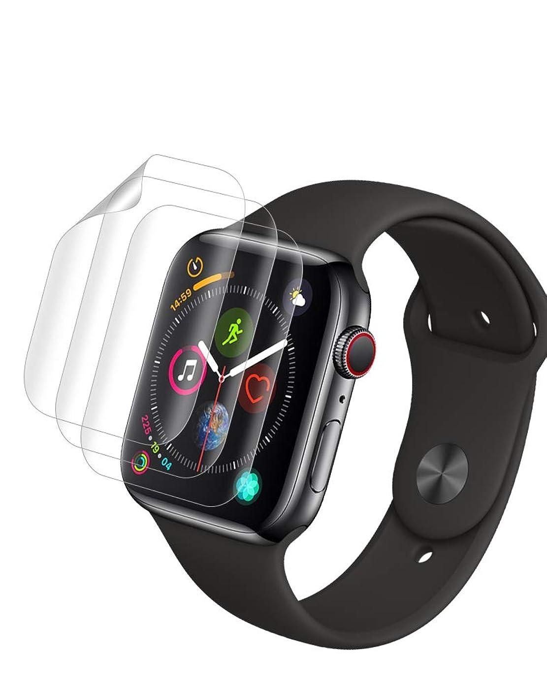 神経障害うなるベックス【3枚パック】TopACE Apple watch 4 44mm / Apple watch 5 44mm 保護フィルム 高精細度 高光沢 TPU製 Apple watch series 4 / series 5 44mm フィルム 対応