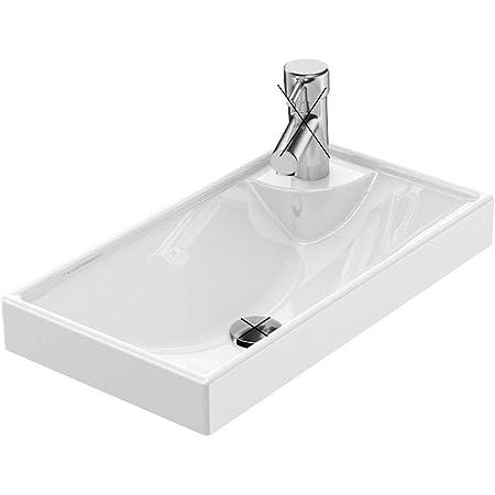 Waschbecken weiß 40x22cm Aufsatzwaschbecken Handwaschbecken Gäste WC