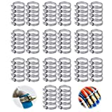 100 Piezas Abrazadera de Manguera de Acero Inoxidable 201 Abrazaderas Metalicas Tubo Inoxidable FijacióN de TuberíAs Y Mangueras Se Utiliza Para Lavadora TuberíA de Aceite de AutomóVil (16-25)