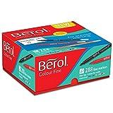 Berol Farb-Stift mit Feinfaserspitze, in einer Strichbreite von 0,6 mm Box of 288 farblich sortiert