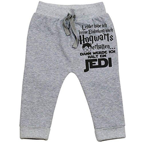 Mikalino Baby Jogginghose Leider Habe ich Keine Einladung nach Hogwarts erhalten. dann werde ich Halt Jedi, Grösse:6-12 Monate, Farbe:Heather