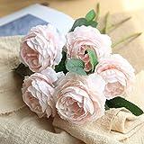OHQ-Fausse Fleur Decoration Western Sac Rose Artificielle Tenant des Fleurs Iris Ibiscus Longue Lot Mousse Mini Noel Noir Exterieur Exotique Fleuriste (A, 1PCS)