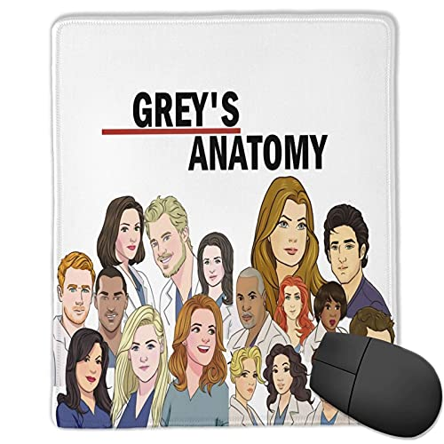 Grey's Anatomy Mouse Pad Custom Mousepad Gaming Mat Waterproof Non-Slip Mouse Pads for Computers 10x12 Inches