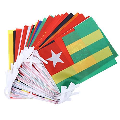 LIOOBO Internationale Fahnen Weltfahnen Wimpel Banner 60 Länder Olympische Fahnen für Bar Partydekorationen Sportvereine 19M