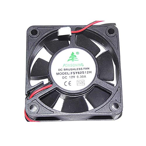 SCYHGLM Cooling Fan for FONSONING 60mm FSY62S12H 6cm 12V 0.3A, Cooler Fan 60x60x20mm 2Wires
